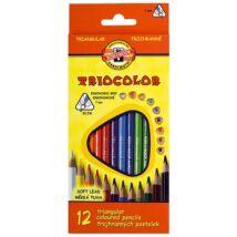 Színes ceruza KOH-I-NOOR 3132 Tricolor háromszögletű 12 db/készlet