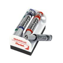 Táblamarker PENTEL MAXIFLO 4 szín + törlő szett