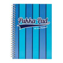 Spirálfüzet PUKKA PAD Vogue A/5 100 lapos vonalas kék