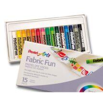 Textilkréta PENTEL 15 színű készlet