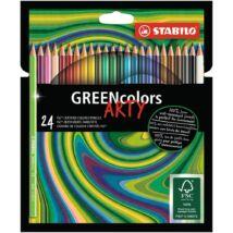 Színes ceruza STABILO Greencolors hatszögletű 24 db/készlet