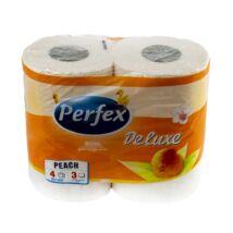 Toalett papír PERFEX Deluxe 3 rétegű 4 tekercses barack