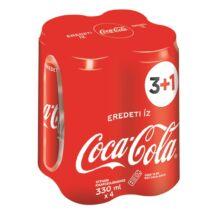 Üdítőital szénsavas COCA-COLA dobozos multipack 4x0,33L