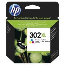 Festékpatron HP F6U67AE (302XL) színes