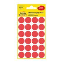 Etikett AVERY 3004 jelölőpont 18mm piros 96 db/csomag