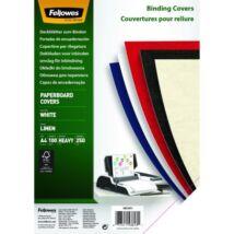 Hátlap FELLOWES Linen A/4 270g vászonhatású fehér 100/csom