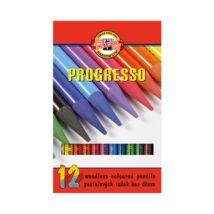 Színes ceruza KOH-I-NOOR 8756 Progresso hengeres 12 db/készlet
