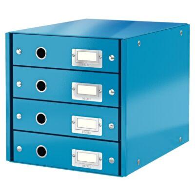 Irattartó LEITZ Click & Store 4 fiókos kék