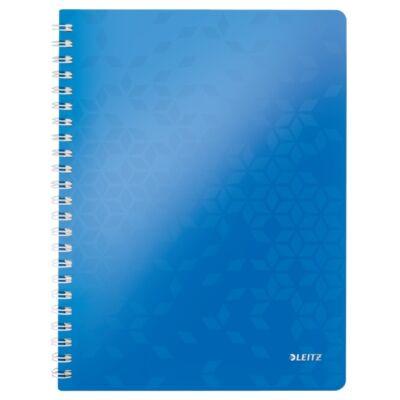 Spirálfüzet LEITZ Wow A/4 80 lapos kockás kék