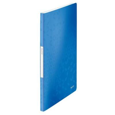 Iratvédő mappa LEITZ Wow A/4 20 tasakos kék