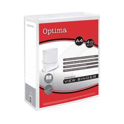Gyűrűskönyv OPTIMA panorámás A/4 4gyűrű 50mm fehér