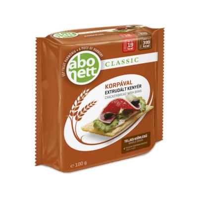 Extrudált kenyér ABONETT Classic teljes kiörlésű korpával 100g