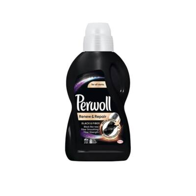 Folyékony mosószer PERWOLL Black & Fiber fekete és sötét ruhákhoz 900 ml 15 mosás