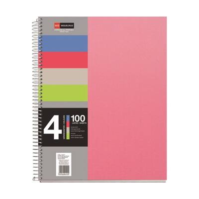 Spirálfüzet MIQUELRIUS 4 Notebook A/5 100 lapos perforált lyukasztott kockás