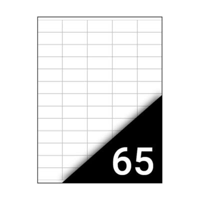 Etikett FORTUNA 38x21,2mm univerzális 6500 címke/doboz 100 ív/doboz