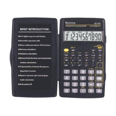 Számológép tudományos OPTIMA SS-501 150 funkciós 10 digit