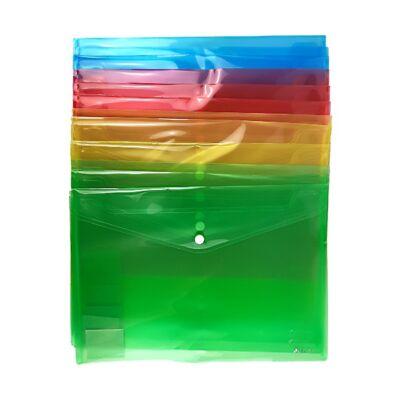 Irattasak OPTIMA A/5 patentos átlátszó színes vegyes 12 db-os