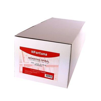 Spirál műanyag FORTUNA 14mm 81-100 lap fehér 100/dob