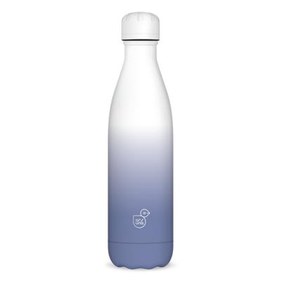 Kulacs duplafalú ARS UNA fém BPA-mentes 500 ml fehér-szürke