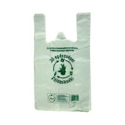 Ingvállas táska lebomló PLA 24x45x12cm vékony Jó egészséget Földünknek 100 db/csom