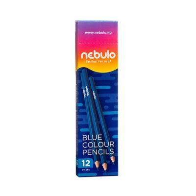 Színes ceruza NEBULO háromszögletű kék
