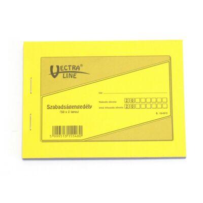 Nyomtatvány szabadságengedély VECTRA-LINE 50x2 vegykezelt