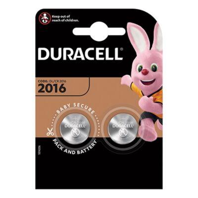 Elem gomb DURACELL DL2016/CR2016 2-es