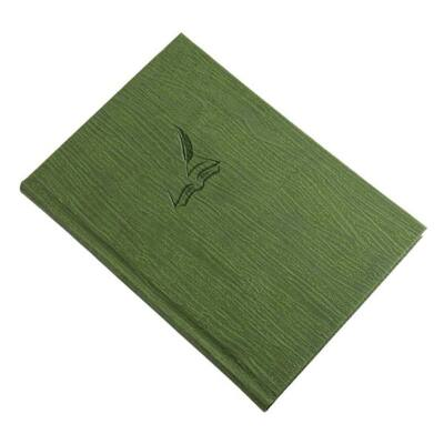 Vendégkönyv REALSYSTEM Fashion A/4 144 lapos sima zöld