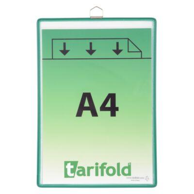 Bemutatótábla TARIFOLD A/4 függő zöld (csak dobozra)