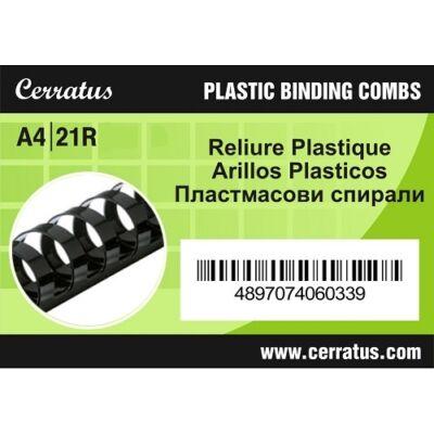 Iratspirál CERRATUS 16mm fekete műanyag