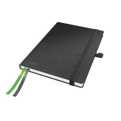 Jegyzetfüzet LEITZ Complete A/5 80 lapos kockás fekete
