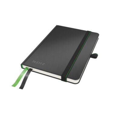 Jegyzetfüzet LEITZ Complete A/6 80 lapos vonalas fekete
