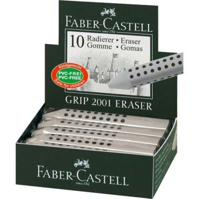 Radír FABER-CASTELL Grip 2001 háromszögletű 90x15x15mm szürke