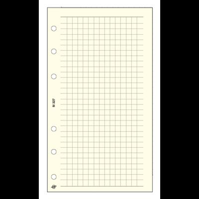 Gyűrűs kalendárium betét SATURNUS M327 négyzethálós jegyzetlap sárga lapos
