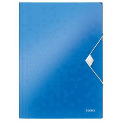 Gumis mappa LEITZ Wow A/4 műanyag kék
